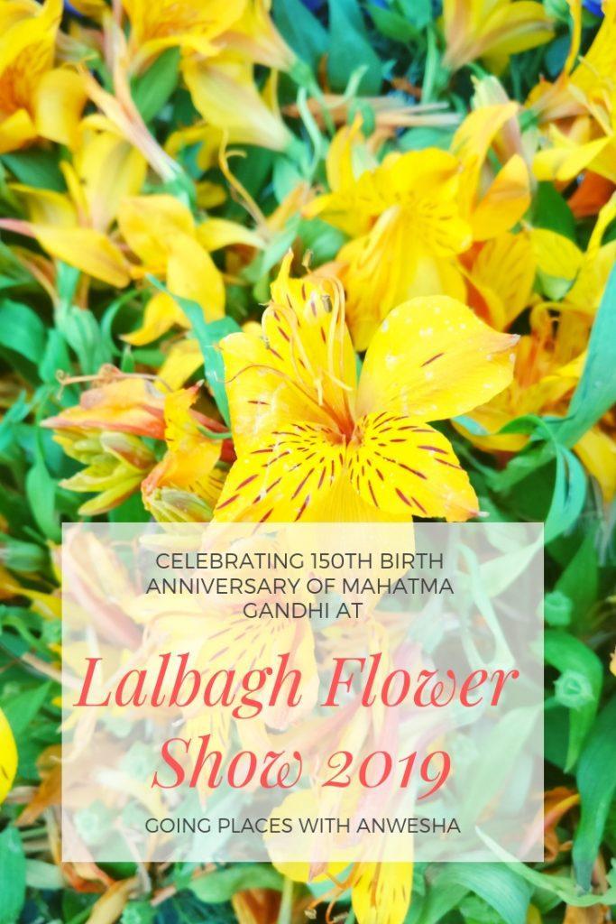 Celebrating 150th Birth Anniversary of Mahatma Gandhi at Lalbagh Flower Show 2019