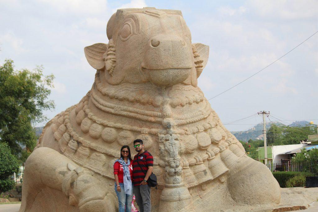Nandi Bull statue in Lepakshi