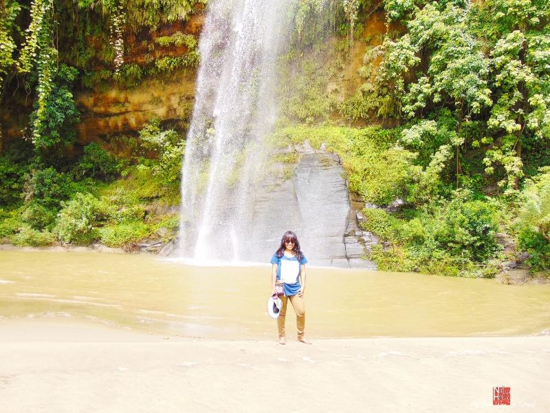 Nafisa at Rijuk Waterfall in Bangladesh