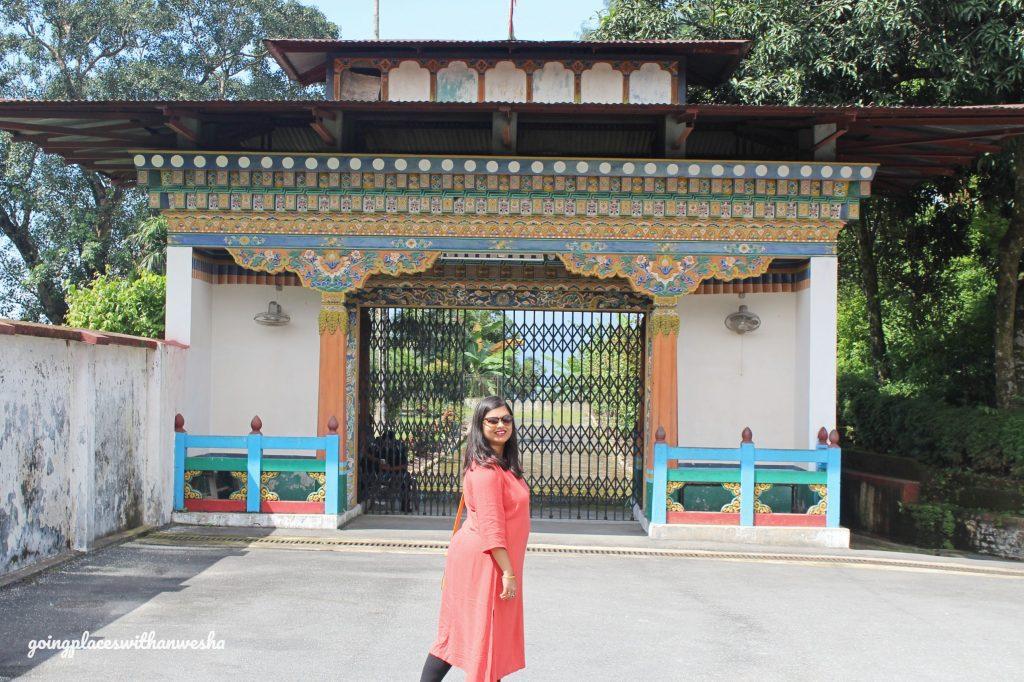 The entrance of Karbandi Monastery